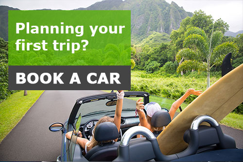 Planning your first trip - book a car