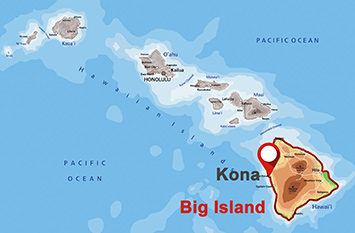 Where is Kona on Big Island?