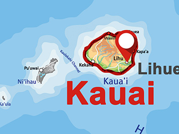 Where is Lihue on Kauai?
