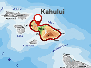 Where is Kahului on Maui?