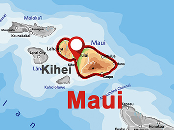 Where is Kihei on Maui?