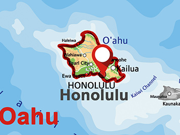 Where is Honolulu on Oahu?